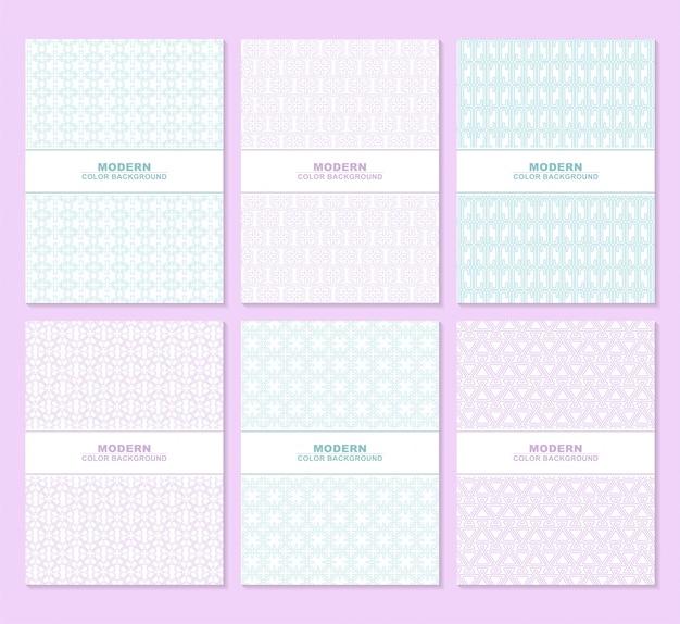 Textura de patrón de color blanco abstracto para conjunto de plantillas de portada de libro