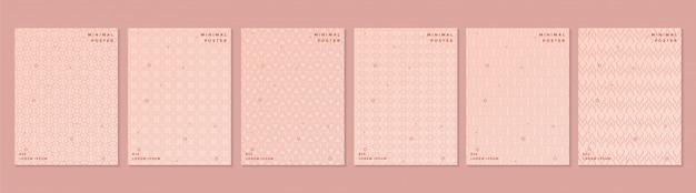 Textura de patrón de color retro abstracto para conjunto de plantillas de portada de libro