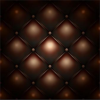Textura de patrón de tapicería de cuero abotonado marrón