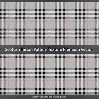 Textura de patrón de tartán escocés premium