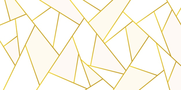 Textura poligonal metálica dorada