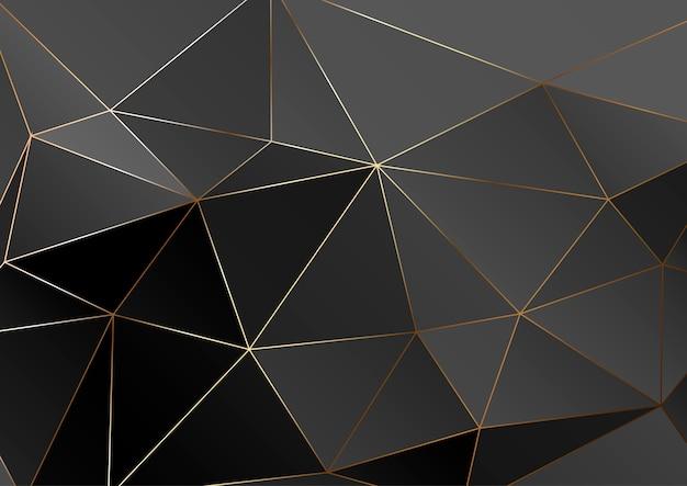 Textura poligonal de oro.