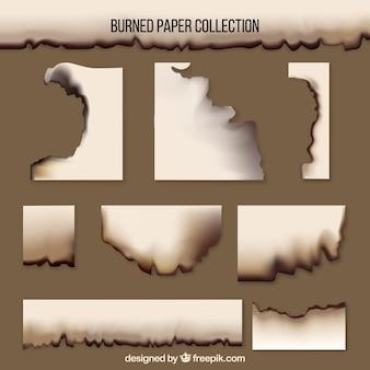 Textura realista de papel quemado