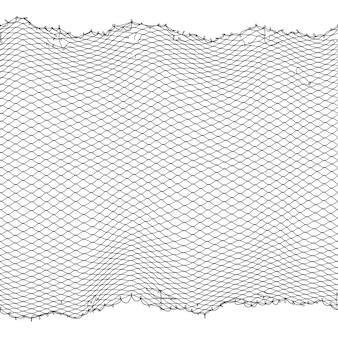 Textura de la red de pescador negro cuerda transparente