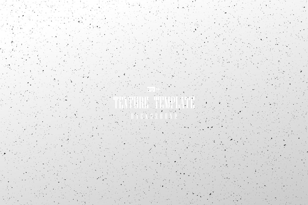 Textura sucia del punto negro abstracto en el fondo blanco de la plantilla.
