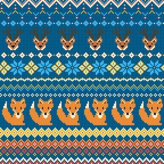 Textura de tejido con zorros