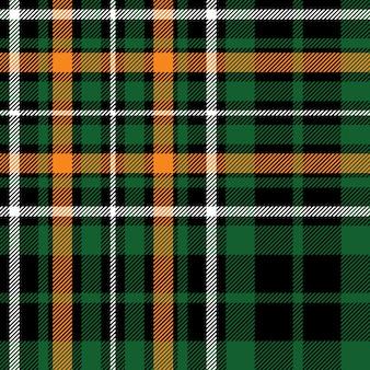 Textura de tela de tartán verde celta fc de patrones sin fisuras