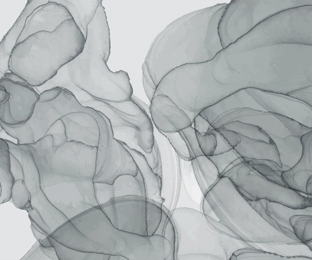 Textura de tinta gris alcohol. pintado a mano abstracto fondo acuarela.