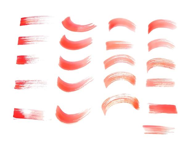 Textura de trazos de pincel acuarela roja pintada a mano