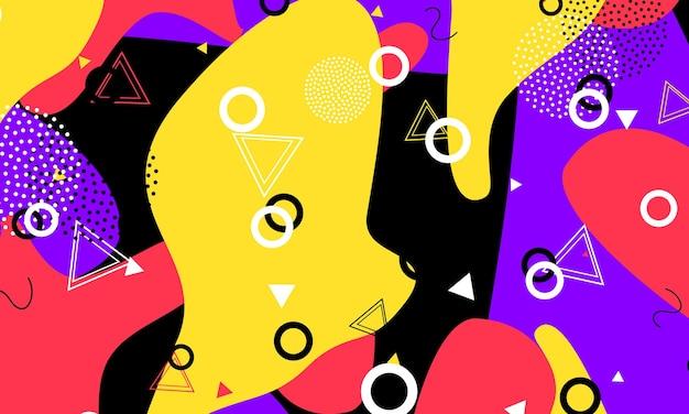 Textura de triángulo. cubierta kinder negra. dibujo gráfico. patrón de flujo rojo. cartel degradado. composición púrpura. plantilla divertida. moda colorida de tinta.