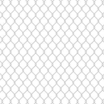 Textura de valla de seguridad de prisión con cable, realista aislado.