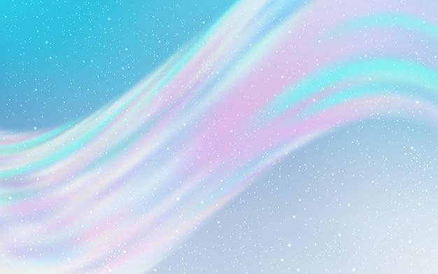 Textura de vector azul claro con estrellas de la vía láctea.