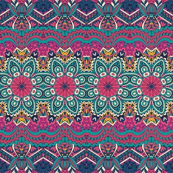 Textura de vector de rayas étnicas para textiles de tela motivos ornamentales tradicionales