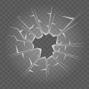 Textura de vidrio roto efecto de cristal roto realista aislado