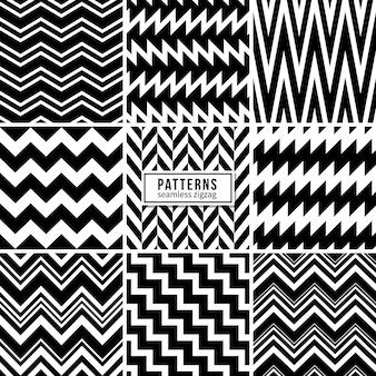 Texturas geométricas a rayas regulares en blanco y negro