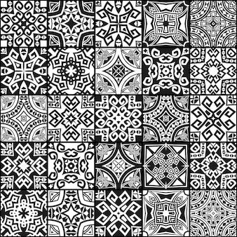 Texturas inconsútiles étnicas geométricas abstractas