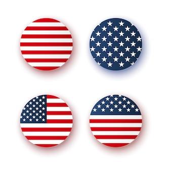 Th de julio insignia aislada día de la independencia de américa etiqueta ilustración vectorial