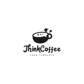 Think coffee logo mejor para la tienda de café