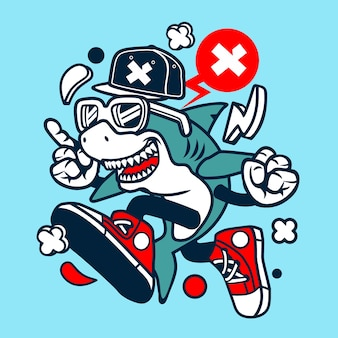 Tiburón de dibujos animados