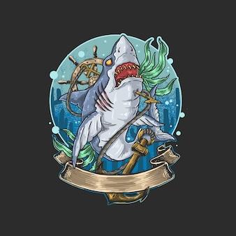 Tiburón salvaje asesino peligroso aguas profundas