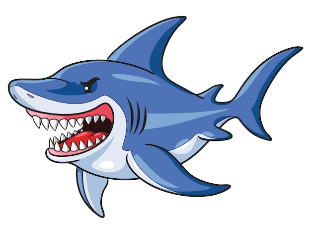 Tiburones, caricatura, estilo