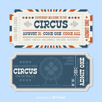 Ticker vintage de circo