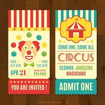 Tickets de circo en estilo retro