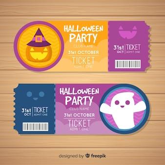 Tickets de halloween creativos