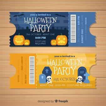 Tickets modernos de halloween