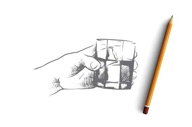 Tiempo para beber ilustración del concepto