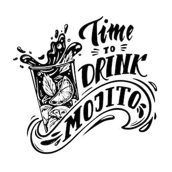 Tiempo de beber mojito
