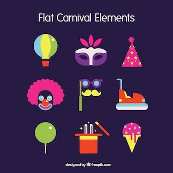 Tiempo de carnaval en diseño plano