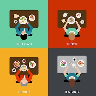 Tiempo de comida establecido