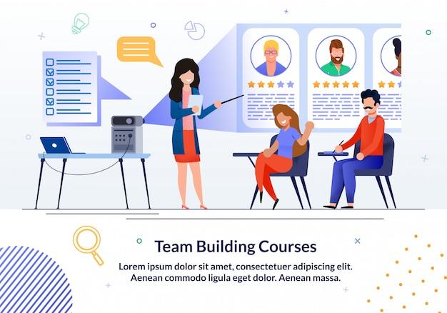 Tiempo de construcción cursos informativo anuncio plano