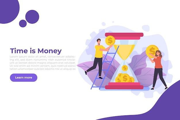El tiempo es dinero banner
