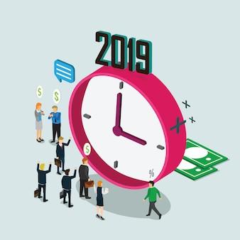 Tiempo de negocios en el año