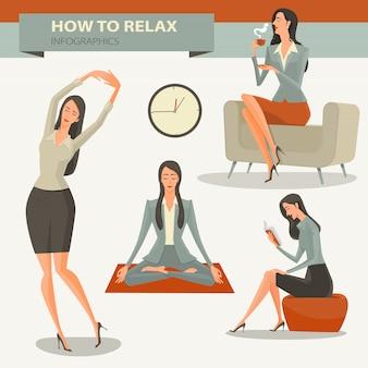 Tiempo de pausa para el café y relajante vida de oficina.