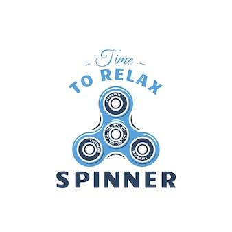 Tiempo para relajarse. emblema de spinner de color