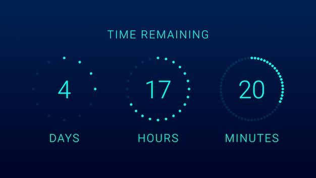 Tiempo restante del temporizador de cuenta regresiva