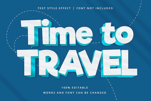 Tiempo para viajar efecto de texto editable