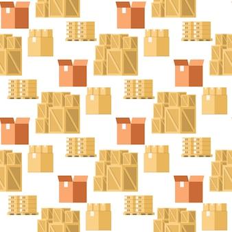 Tienda de artículos de embalaje colección de patrones sin fisuras