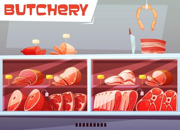 Tienda de carnicería.