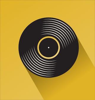 Tienda de discos de vinilo negro concepto plano día
