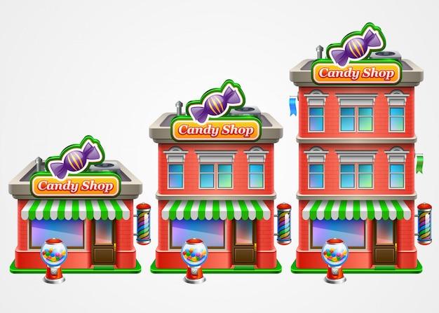Tienda de dulces infografía.