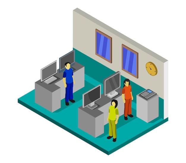 Tienda de electrodomésticos isométricos