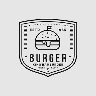 Tienda de hamburguesas vintage