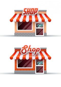 Tienda de ilustración. icono de compras