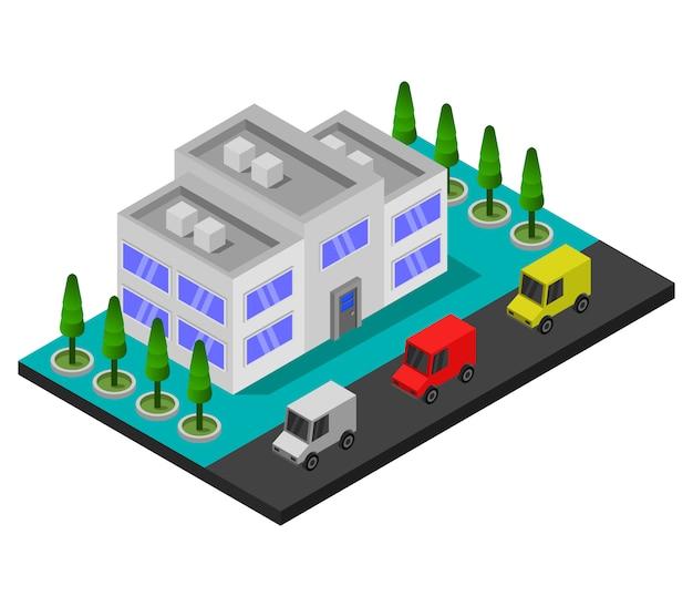 Tienda isométrica de la ciudad