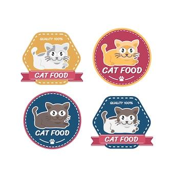 Tienda de mascotas diseño de logotipo tienda de mascotas gatos animales domésticos