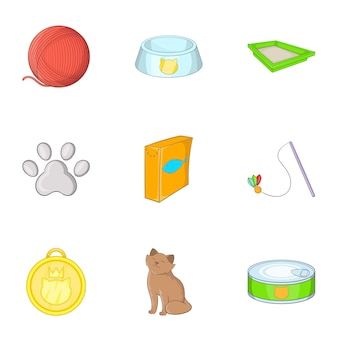 Tienda de mascotas, estilo de dibujos animados